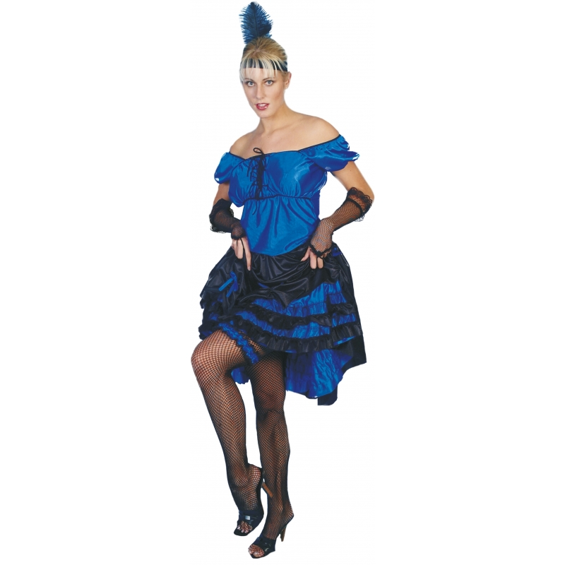Blauw salsa feest jurkje