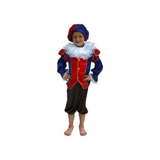 Blauw/zwart Zwarte Piet pak kinderen