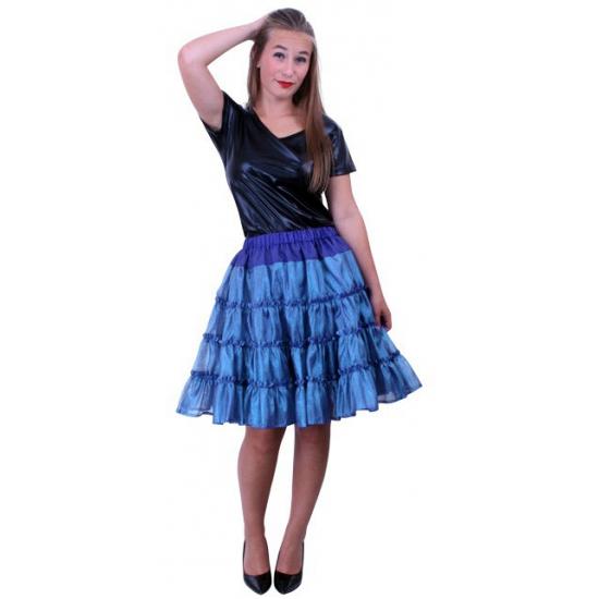 Blauwe 5-laags petticoat