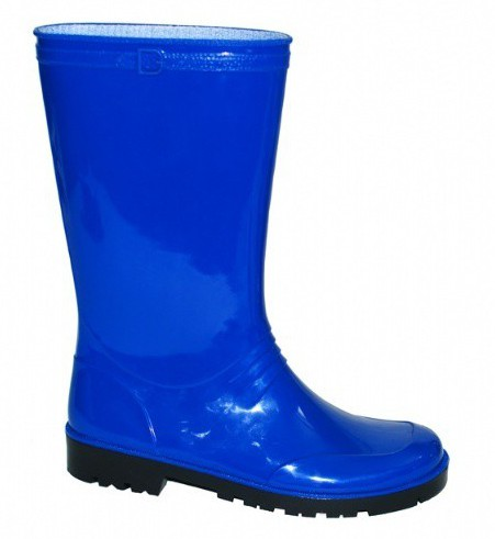 Blauwe pvc laarzen voor dames