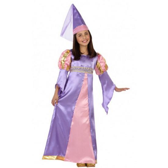 Carnaval lila tover prinsessen kostuum