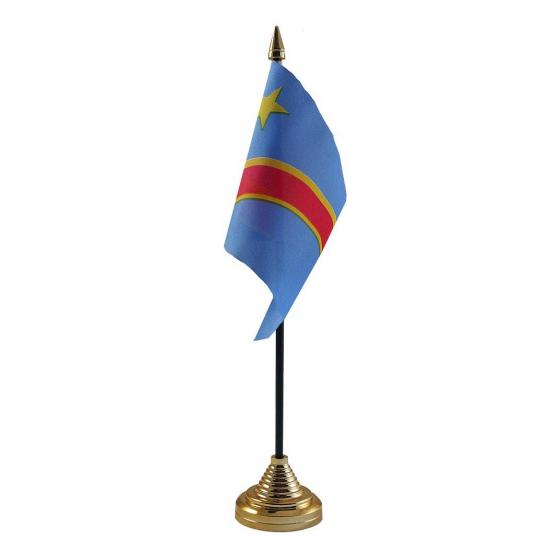 Congo vlaggetje voor op tafel