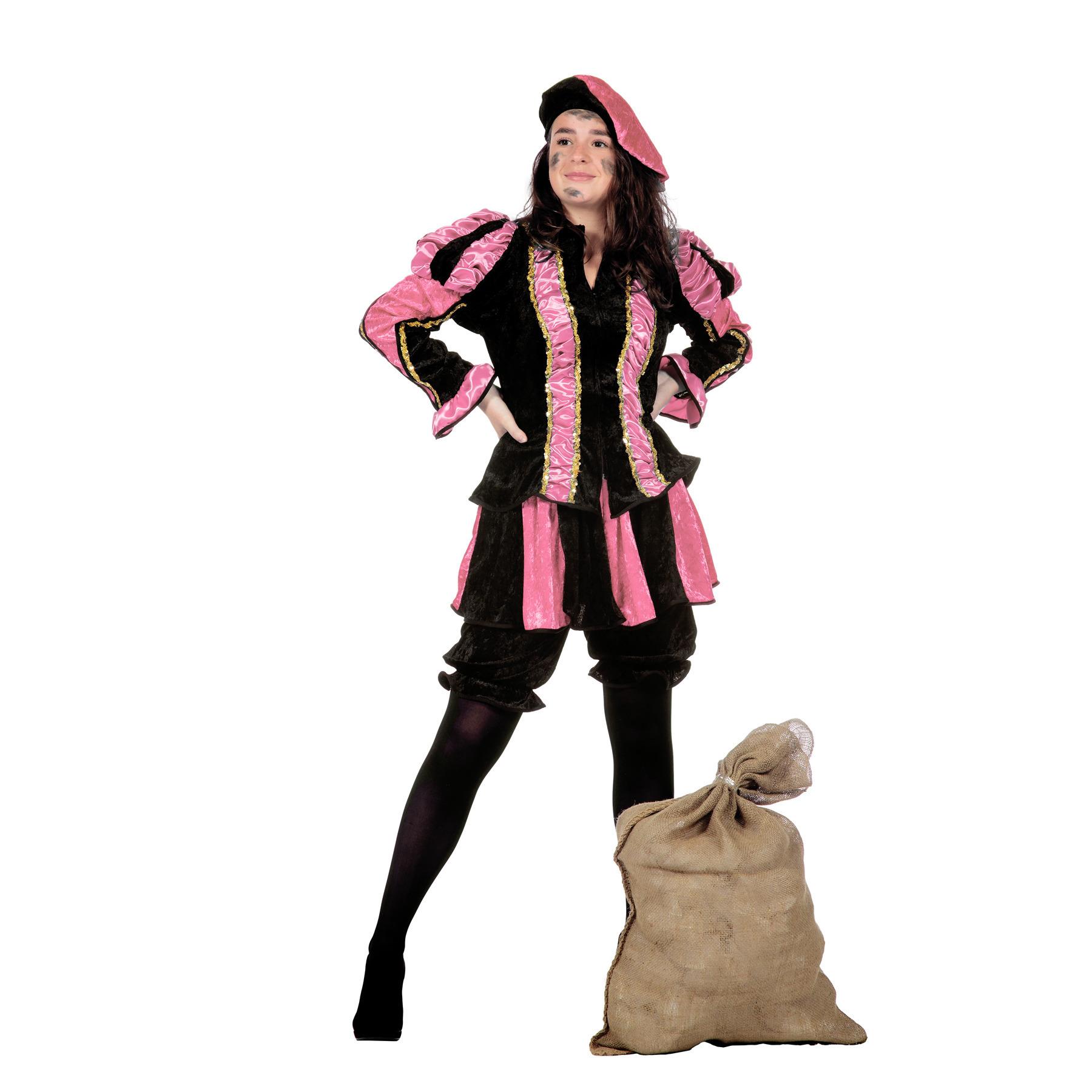 Dames pieten pak roze FopartikelenWinkel