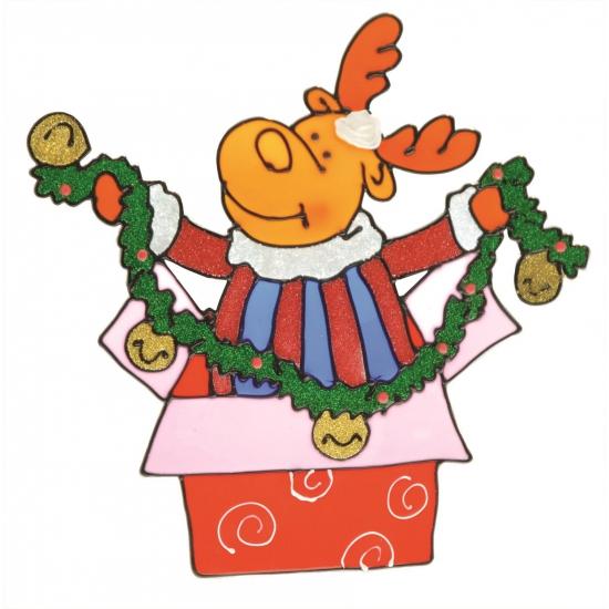 Rendier raamsticker. deze kerstmis raamsticker kun je op het raam bevestigen, maar er ook zo weer afhalen ...