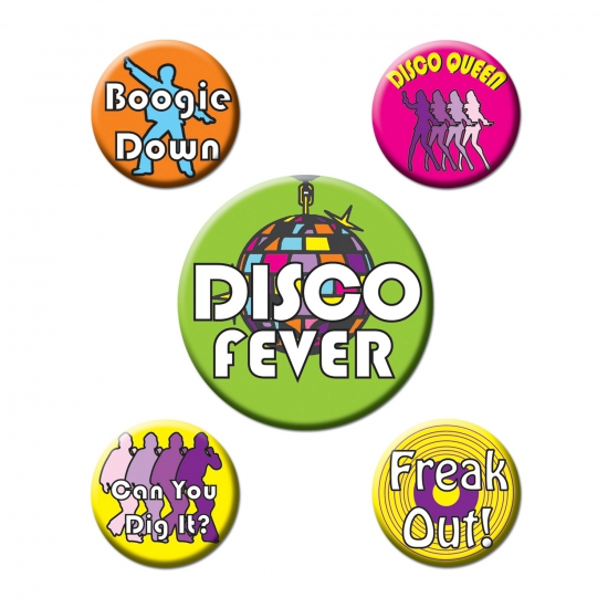 Disco buttons 5 stuks
