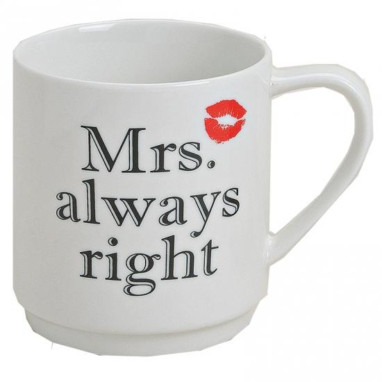 Drinkbeker Mrs Always Right