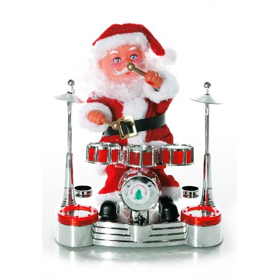 Drummende Kerstman deco voor in de vensterbank