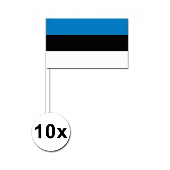 Estland zwaai vlaggetjes 10 stuks