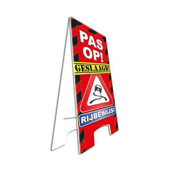Feestartikelen geslaagd rijbewijs bord