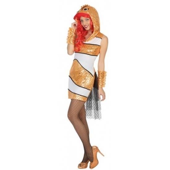 Funny goudvis kostuum voor dames