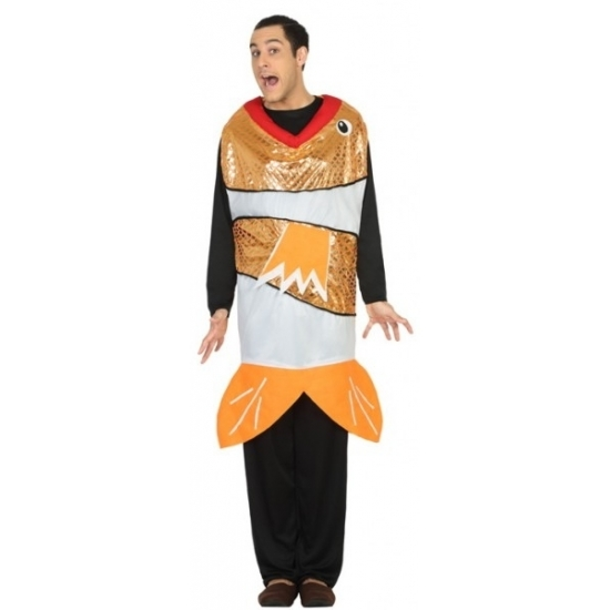 Funny goudvis kostuum voor heren