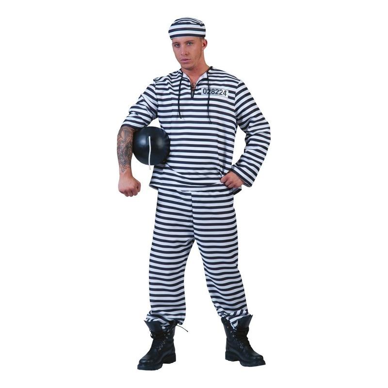 Gevangenen kostuum met pet
