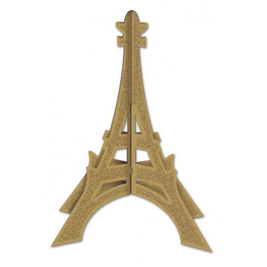 Gouden glitter Eiffeltoren 30 cm