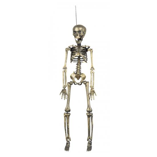 Halloween Hangdecoratie skelet goud 42 cm