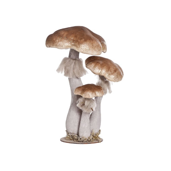 Herfstversiering houten paddenstoel