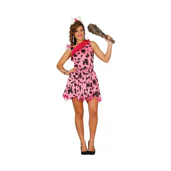 Holbewoner jurk met bot haarband