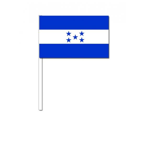 Honduras zwaai vlaggetjes 12 x 24 cm