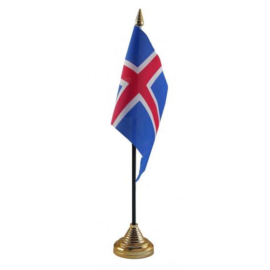 IJsland vlaggetje voor op tafel