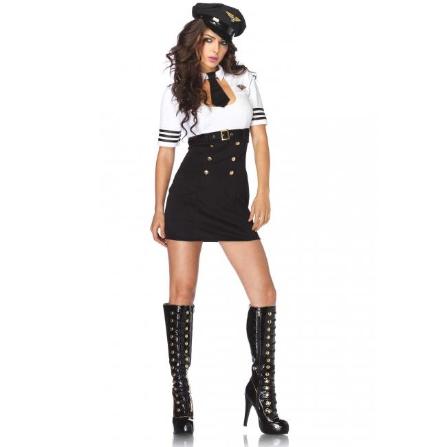 Kapitein kostuum met haarband Leg Avenue