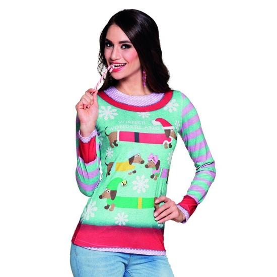 Kerst t-shirt met sneeuwvlokken print