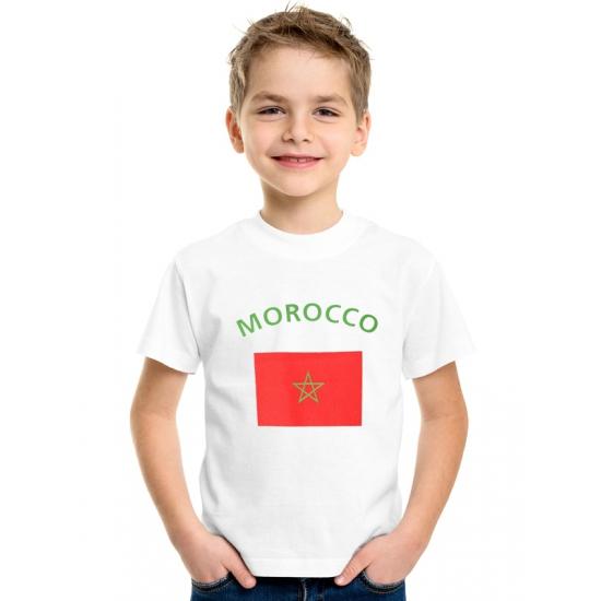 Kinder t-shirts van vlag Marokko