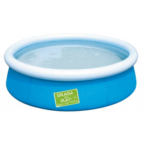 Klein blauw zwembad voor in de tuin