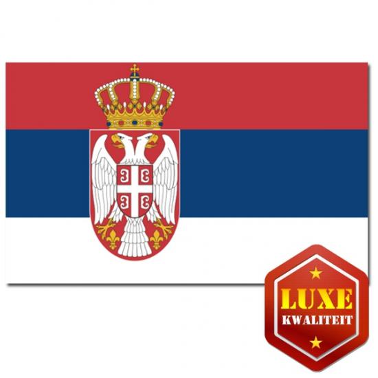 Landen vlag van Servie