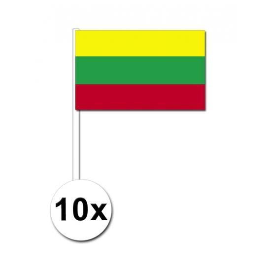 Litouwen zwaai vlaggetjes 10 stuks