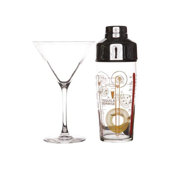 Luminarc cocktailset met glazen