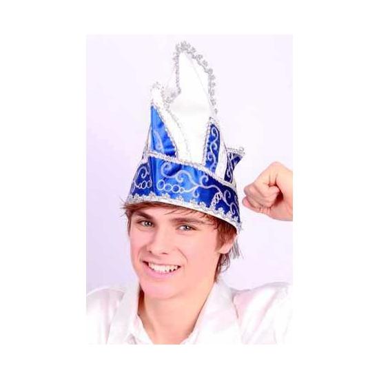 Luxe blauwe prinsenmuts