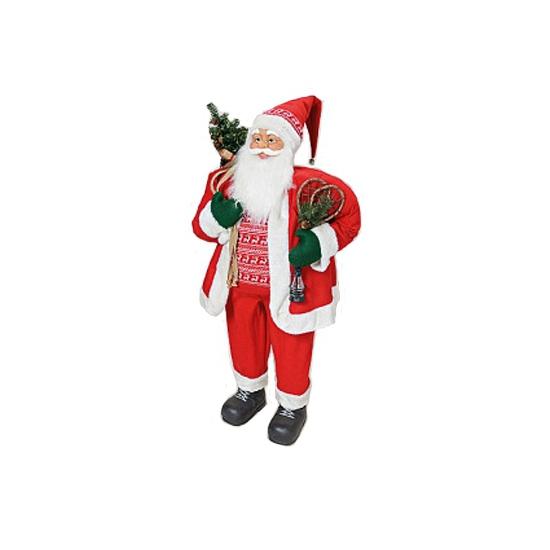 Luxe Kerstman decoratie van pluche 122 cm