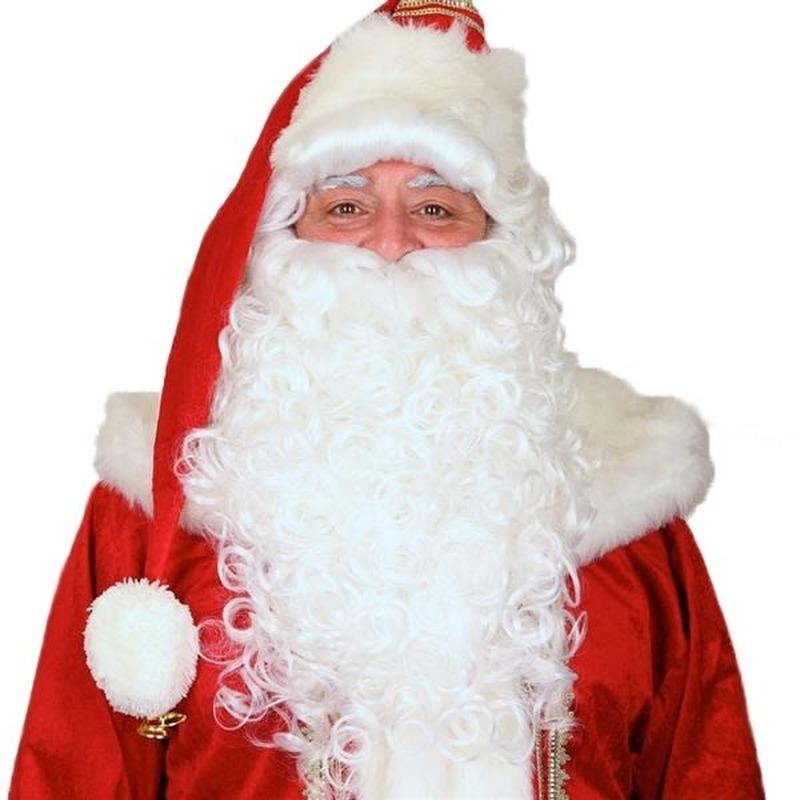 Luxe Kerstman pruik met baard FopartikelenWinkel