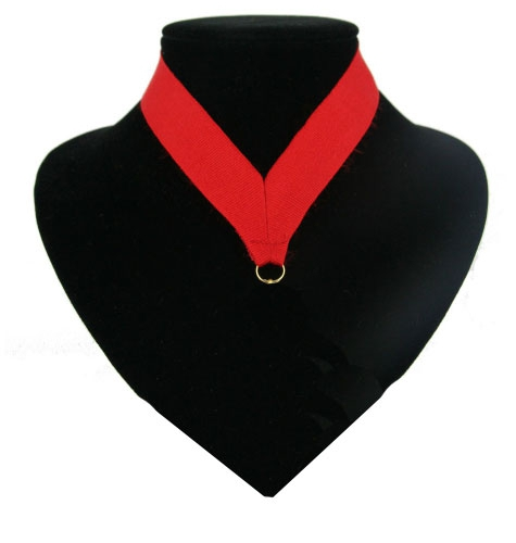 Medaille lint rood