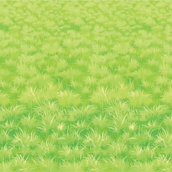 Muurdecoratie met gras print 9 meter