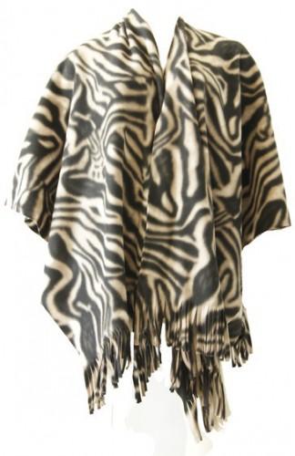 Omslagdoek zebra print 140 x 180 cm
