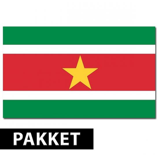 Pakket Suriname feestartikelen
