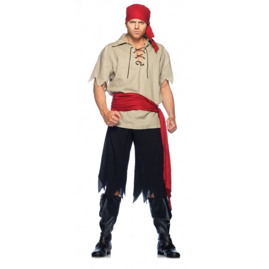 Piraat kostuum vier delig Leg Avenue
