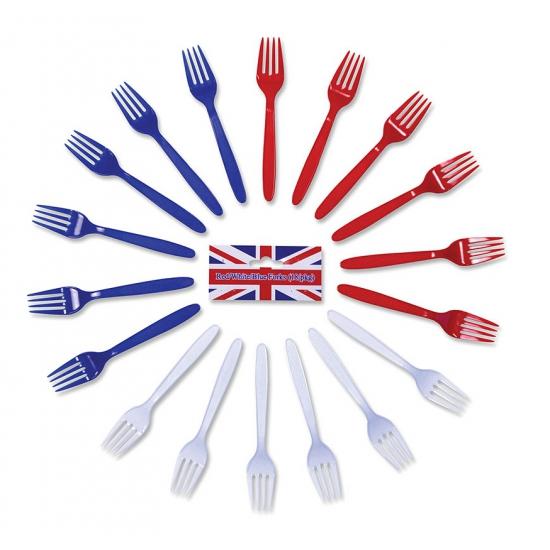 Plastic vorken met R/W/B kleur