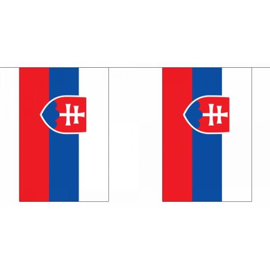 Rechthoekige Slowakije vlaggenlijn