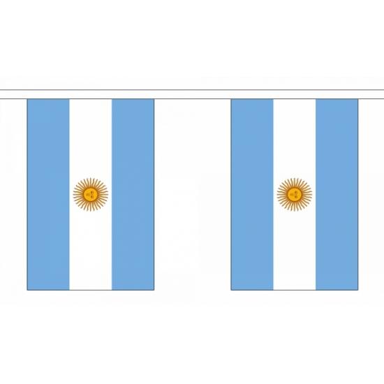 Rechthoekige vlaggenlijn Argentinie
