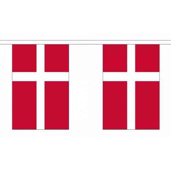 Rechthoekige vlaggenlijn Denemarken