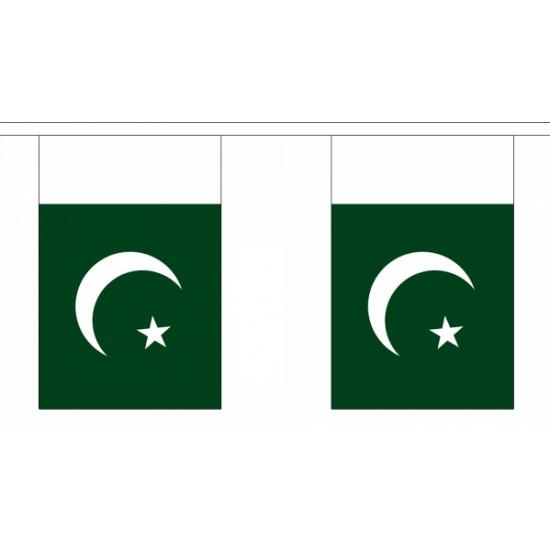 Rechthoekige vlaggenlijn Pakistan