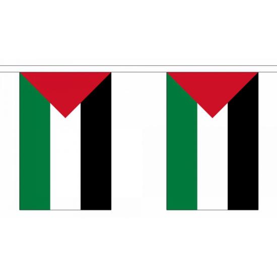 Rechthoekige vlaggenlijn Palestina