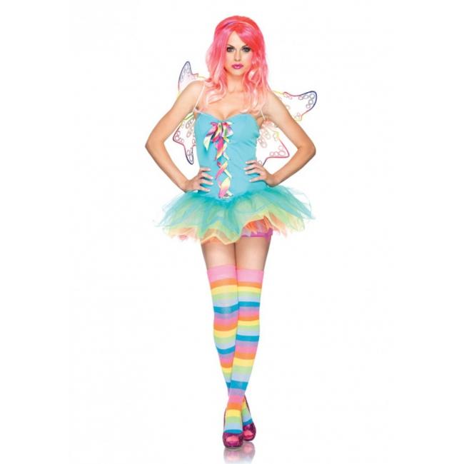 Regenboog fairy kostuum voor dames Leg Avenue