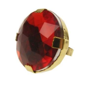 Ring met ronde steen gekleurd
