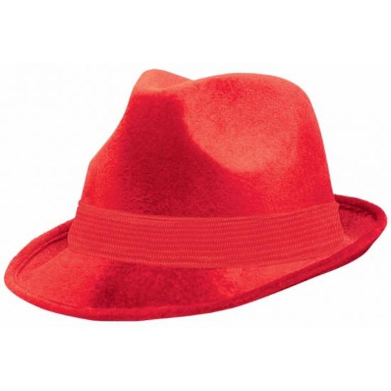 Rode stoffen hoeden voor volwassenen