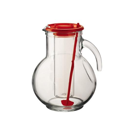 Rode waterkan met koelfunctie
