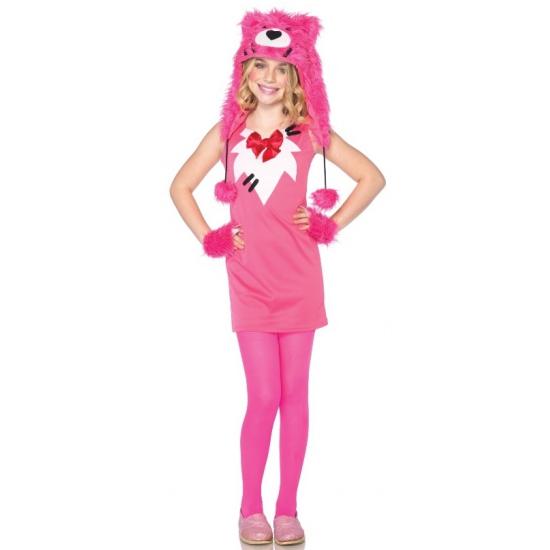 Roze beer outfit voor kinderen Leg Avenue