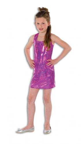 Roze glitterende jurk voor meisjes FopartikelenWinkel