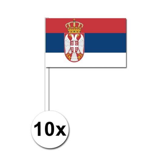 Servie zwaai vlaggetjes pakket van 10